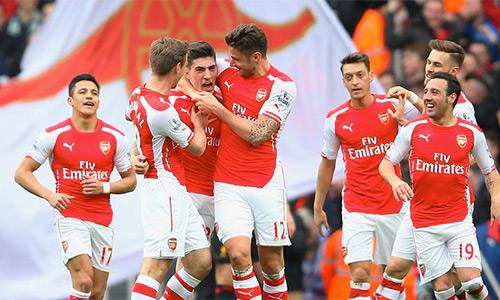 Arsenal có điểm sốt tốt nhất Ngoại hạng Anh trong năm 2015