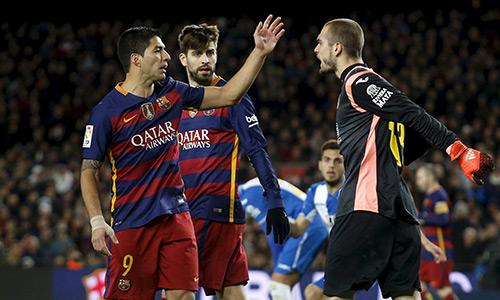 Suarez bị treo giò hai trận tại Cup Nhà Vua
