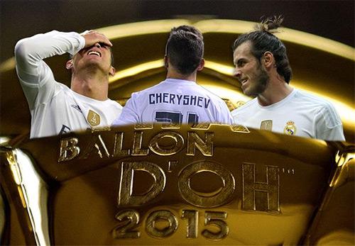 Real Madrid bị chế diễu ở giải phản Quả bóng Vàng 2015
