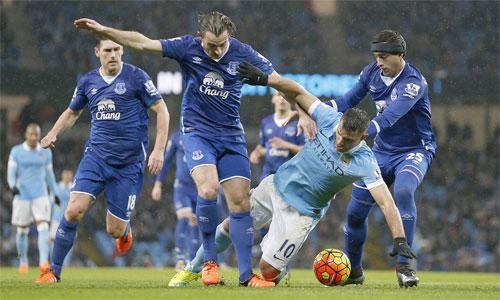Man City lại không thể thắng Everton