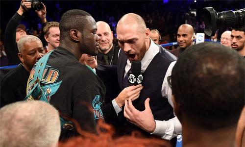 Wilder suýt tẩn nhau với Fury sau trận bảo vệ đai vô địch