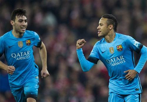 Neymar lập công, Barca đặt một chân vào bán kết