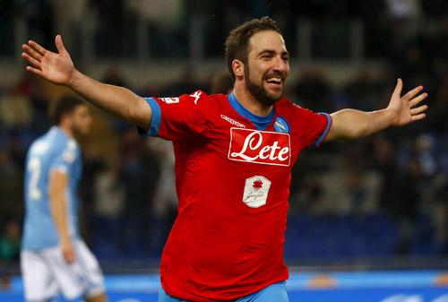 Higuain lập công, Napoli tiếp tục trên đỉnh Serie A
