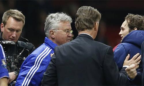 Hiddink áp đảo Van Gaal về thành tích đối đầu
