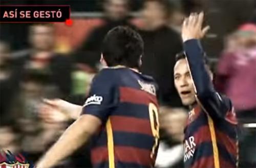Truyền thông tung bằng chứng 'Suarez cướp bàn thắng của Neymar'
