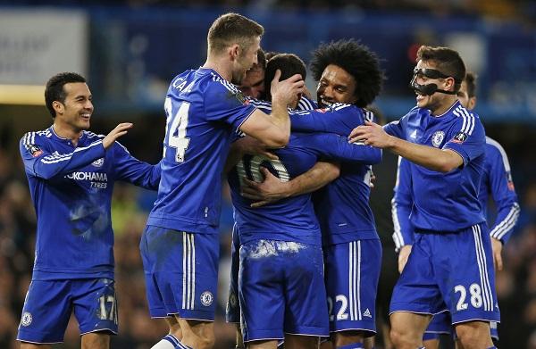 Chelsea vùi dập Man City, vào tứ kết Cup FA