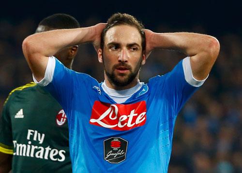 Napoli bị Milan cầm chân, lỡ cơ hội soán ngôi đầu của Juventus