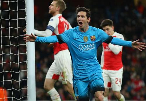 Messi lập cú đúp, Barca thắng Arsenal tại Emirates