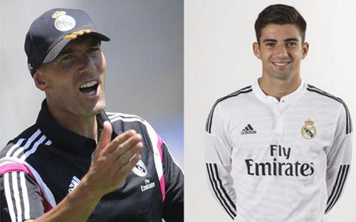 Zidane đưa con trai lên tập cùng đội một Real