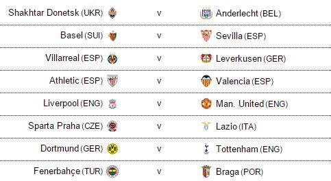 Man Utd chạm trán Liverpool ở vòng 16 đội Europa League