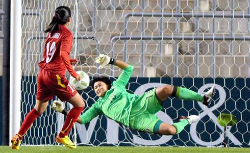 Tuyển nữ Việt Nam lại chịu mưa bàn thua ở vòng loại Olympic 2016