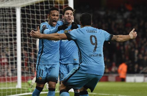 Bộ ba MSN của Barca chạm mốc 100 bàn