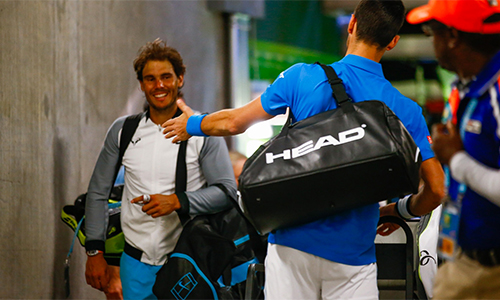 Khoảnh khắc hiếm có giữa Djokovic và Nadal trong đường hầm