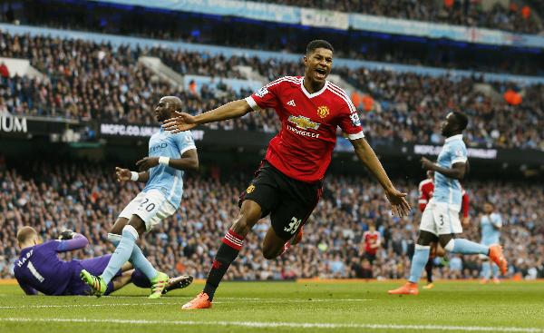 Man Utd đánh bại Man City ngày Rashford lập kỷ lục