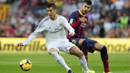 Pique đề cao Ronaldo trước trận El Clasico