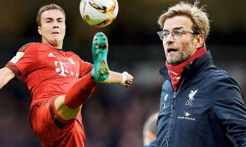 Gotze muốn tái ngộ Klopp ở Liverpool