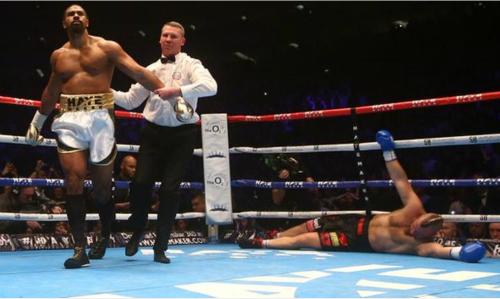 David Haye so găng với đối thủ vô danh