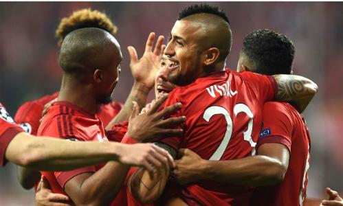 Bayern thắng Benfica nhờ bàn duy nhất của Vidal