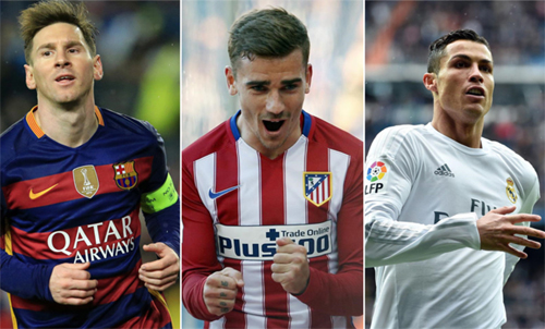 Atletico lợi hơn Real và Barca ở giai đoạn nước rút La Liga