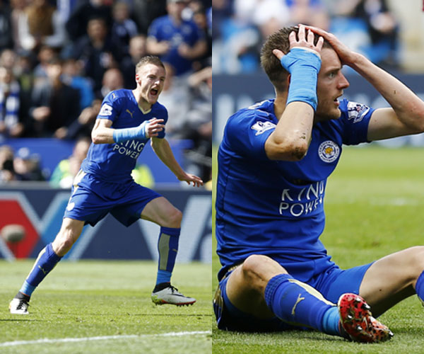Vardy bị đuổi, Leicester hòa West Ham nhờ bàn phút chót