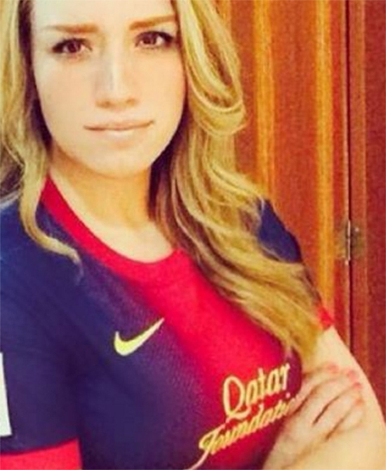 Bạn gái tin đồn của Ronaldo là CĐV Barca - ảnh thể thao