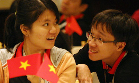 Vợ chồng kỳ thủ Trường Sơn, Thảo Nguyên cùng giành HC vàng
