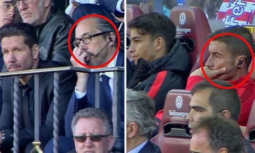 Simeone lách luật, chỉ đạo cầu thủ Atletico từ xa