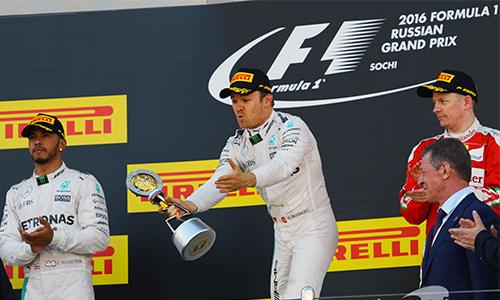 GP Nga: Rosberg về nhất, Hamilton vượt khó ngoạn mục để về nhì