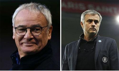 Mourinho chúc mừng Ranieri
