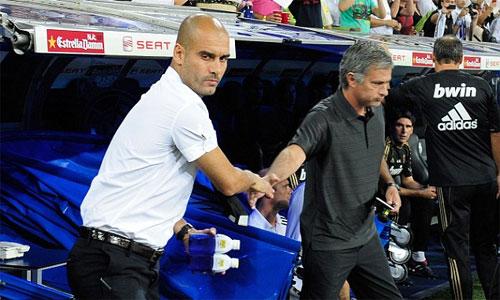 Mourinho đối đầu Guardiola ngay khi đến Man Utd