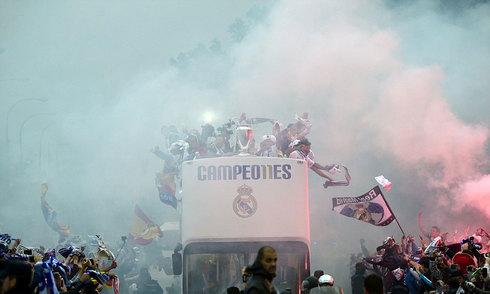 Real diễu hành mừng chức vô địch Champions League 2015-2016