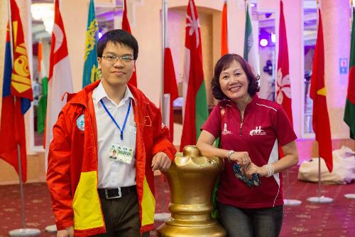 Lê Quang Liêm giành lại vị trí dẫn đầu giải châu Á