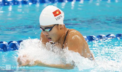 Ánh Viên tập huấn ở Mỹ dài hạn để chuẩn bị cho Olympic 2016. Ảnh: Đức Đồng.