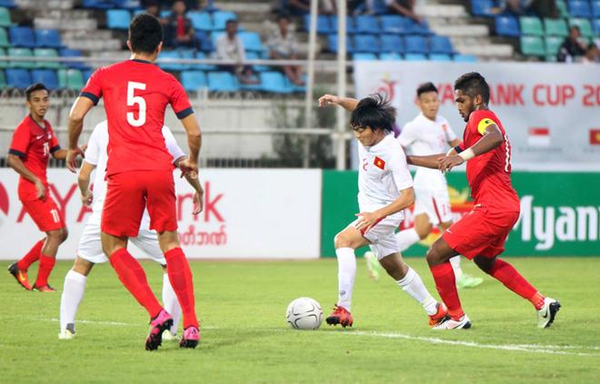 Tuyển Việt Nam nâng cao cup vô địch tại Myanmar - ảnh thể thao