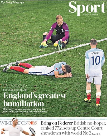 """Truyền thông châu Âu:""""Đây là buổi tối nhục nhã nhất của tuyển Anh"""""""