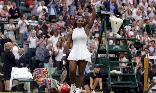 Serena Williams vào tứ kết Wimbledon
