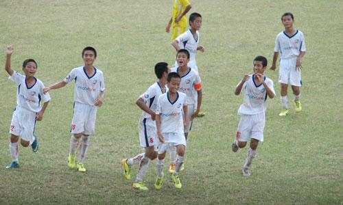 Viettel đứng nhất bảng B giải U13 sau trận thắng Bình Phước