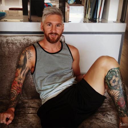 Messi nhuộm tóc trắng, bị dân mạng châm biếm