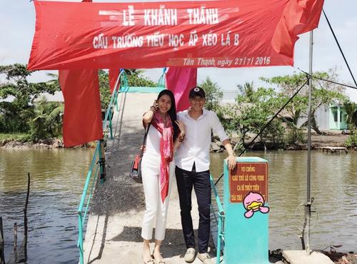 Công Vinh, Thuỷ Tiên xây cầu cho trẻ em nghèo đi học