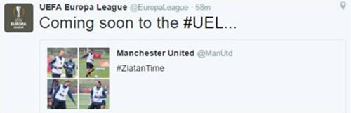 Europa League chào mừng Ibrahimovic