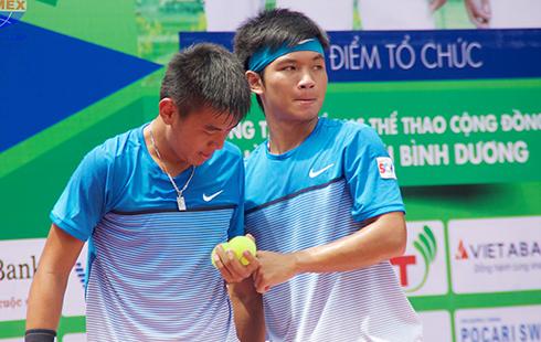 Hoàng Nam, Hoàng Thiên thắng dễ, vào tứ kết đôi nam Vietnam F2 Futures