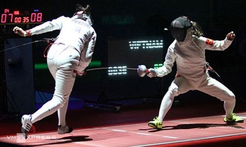 Đấu kiếm Việt Nam thất bại ở trận ra quân Olympic 2016