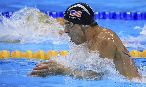 Phelps giành HC vàng thứ tư ở Olympic 2016