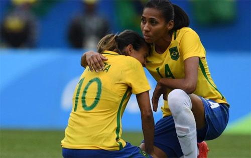 Chủ nhà Brazil vỡ mộng huy chương vàng bóng đá nữ Olympic