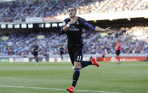 Vắng Ronaldo, Bale lập cú đúp giúp Real thắng đậm