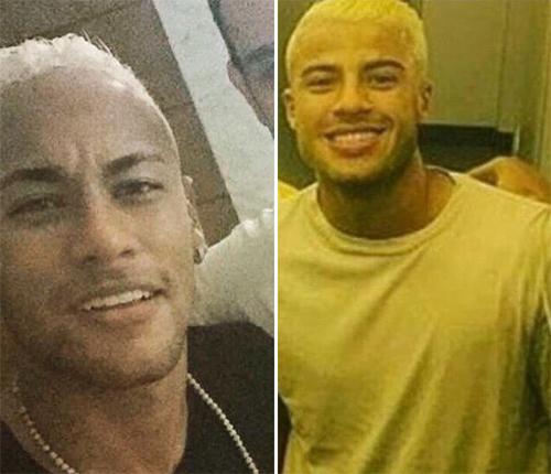 Neymar nhuộm tóc vàng, xăm logo Olympic