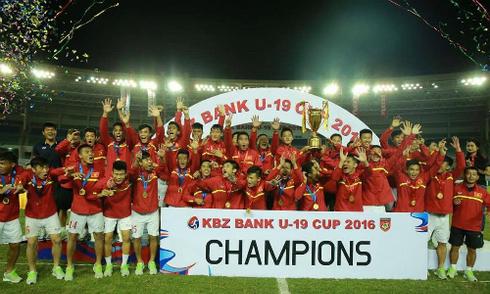 U19 Việt Nam vô địch giải Tứ hùng ở Myanmar