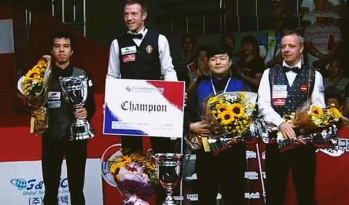 Cơ thủ Việt Nam giành ngôi Á quân World Cup carom ba băng