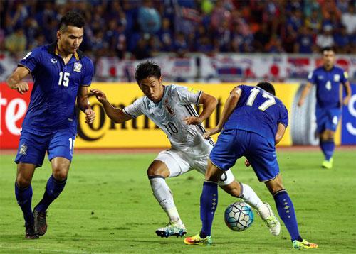 Thất bại trước Nhật Bản, Thái Lan chìm xuống cuối vòng loại World Cup 2018