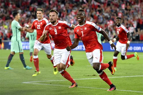 Bồ Đào Nha thua Thụy Sĩ trong trận mở màn vòng loại World Cup